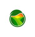 green farm logo icon design vector image