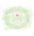 Greeting card with wreath vector image vector image