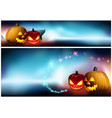 halloween pumpkins and a spooky fog vector image vector image