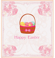 happy easter border vector image vector image