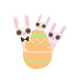 happy family bunnies with easter egg father vector image vector image