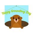 happy groundhog day icon flat style vector image