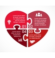 heart circle puzzle infographic Template vector image vector image