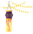 indian lanterns candles decoration vector image vector image