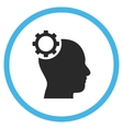 Intellect Gear Flat Rounded Icon vector image
