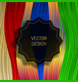 jagged round frame on saturated colorful vector image