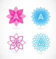 Letter A lotus flower logo vector image