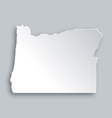 Map of Oregon vector image vector image