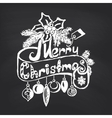 Merry Christmas on blackboard background vector image vector image