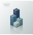modern business statistics 3d style options vector image