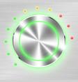 monochrome volume button on metallic sheet vector image