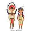 north america traditional vector image vector image