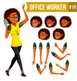 office worker woman modern employee vector image vector image