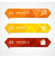 paper triangle option banner vector image vector image