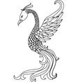 phoenix tattoo vector image vector image