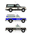 police truck vector image