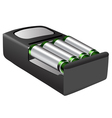 rechargeable batteries vector image