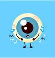 sad unhealthy sick human eyeball organ vector image vector image