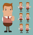 Set of businessman emotion eps10 format vector image vector image