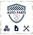 Shield icon Auto part design graphic vector image vector image