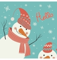 Snowman says hello vector image vector image