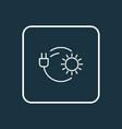 solar power icon line symbol premium quality vector image vector image