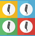 spine icon flat design vector image