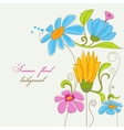 Summer background colorful flowers vector image vector image