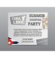 Summer cocktail party poster layout template with vector image vector image
