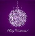 this is a background with a christmas ball vector image vector image