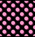 tile pattern big pink polka dots vector image vector image