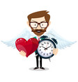 time to love vector image vector image