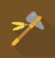 tomahawk native american axe vector image