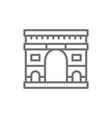 triumphal arch landmark paris france line vector image vector image