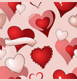 valentines hearts seamless pattern vector image vector image