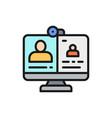 video call online meeting education webinar vector image