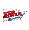 virginia state with us state on american vector image vector image