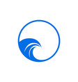 water waves logo design template waves icon vector image vector image