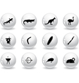 Web buttons australian icons vector image vector image