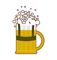 Beer mug in traditional Bavarian national costume vector image