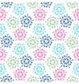 green pink blue colored birds seamless pattern vector image