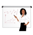 Businesswoman character presentation vector image