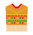 poncho icon flat style mexican traditional vector image