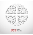 3d celtic national lasy ornament in the shape of a vector image
