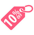 10 percent off tag vector image vector image