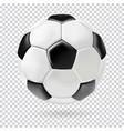 3d football isolated ball on transparent vector image vector image