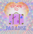 Abstract summer time infographic escape to paradis vector image vector image