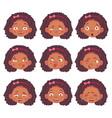 african girl set vector image vector image