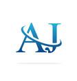 aj logo art icon design image