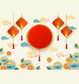 beautiful chinese new year culture celebration vector image
